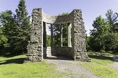 stock photo of embalming  - MacKenzie King Ruins - JPG