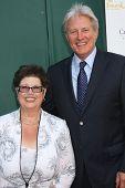 LOS ANGELES - JUL 8:  Debbie Macomber, Bruce Boxleitner at the Crown Media Networks July 2014 TCA Pa