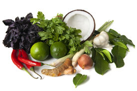 stock photo of thai food  - Ingredients for Thai food ready for cooking - JPG