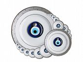 image of obeah  - Amulets against the evil eye isolated on a white background - JPG