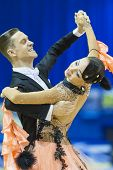 Minsk-belarus, October 5, 2014: Professional Dance Couple Of Alexander Samosyuk And Yana Tudvaseva P