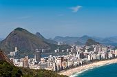 stock photo of ipanema  - Aerial View of Ipanema and Leblon Beaches - JPG