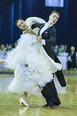 Minsk-belarus, October 5, 2014: Professional Dance Couple Of Il'ya Rykun And Valeriya Lobach Perform