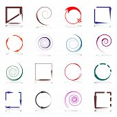 Design elements set with arrows. Vector art.