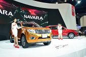 Nonthaburi - December 1: Model Poses With New Nissan Navara Np 300 Car At Thailand International Mot