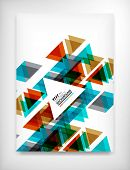 Flyer, Brochure Design Template, Geometric Shape Unusual Abstract Background