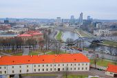 image of a VILNIUS,LITHUANIA, November 17, 2014: Panoramic View of Vilnius