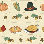 Seamless Thanksgiving Pattern Background
