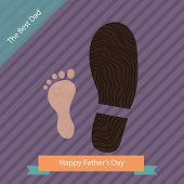 Happy Father's Day-stylish Concept  Background With Cute Steps. Vector Illustration In Retro Colors