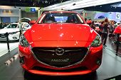 Nonthaburi - December 1: New Mazda 2 Skyactiv Car Display At Thailand International Motor Expo On De