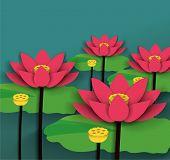 Lotus Chinese New Year Vector.