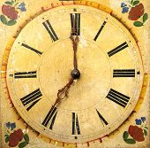 Clock Face Dial Vintage Wooden