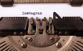Vintage Inscription Made By Old Typewriter