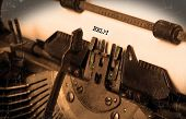 Old Typewriter With Paper