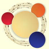 Abstract Circle Vector illustration.
