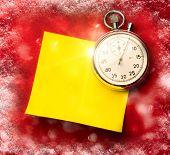 Stopwatch And Blank Sticker