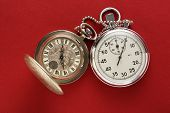 Pocket Vintage Watch And Stopwatch