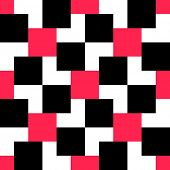 Seamless Red and Black Square Pattern. Vector Background