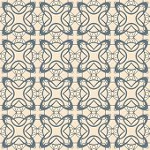Abstract Lattice On A Beige Background