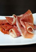 Uncooked Jerked Pork Ham Slices Of Jamon