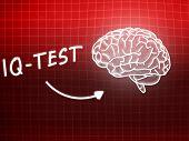 Iq Test  Brain Background Knowledge Science Blackboard Red