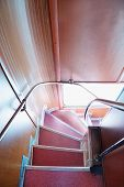 picture of descending  - Descend down angular stairway in English double - JPG