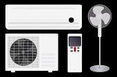 Air conditioning and fan
