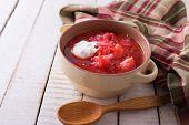 Fresh Appetizing Vegetable Soup