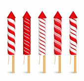 Red Firework Rockets
