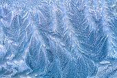 Hoarfrost Background.