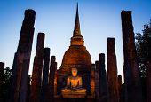 Buddha Evening Sun Light