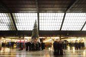 Santa Maria Novella Railway Station At Christmas
