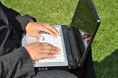 Businessman Laptop Hands