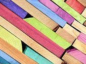 Colored Planks Of Wood