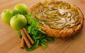 Delicious Apple Pie With Apples And Mint