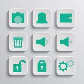 Set Of App Buttons