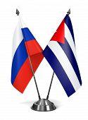 Russia and Cuba - Miniature Flags