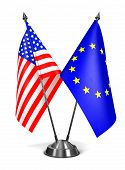 EU and USA - Miniature Flags