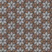 Brick Pavers Laid as Flowers. Seamless Texture.