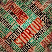 Startup - Grunge Word Collage.