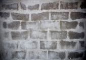 Dark Grey Brick Is Appear From Cement Wall, Texture