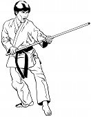 Defensive Stance w/ Bow Staff