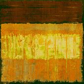 Abstract old background with rough grunge texture. With different color patterns: orange; brown; yellow