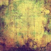 Designed grunge texture or background. With different color patterns: green; purple (violet); brown; yellow