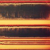 Aging grunge texture, old illustration. With different color patterns: orange; brown; yellow; black; purple