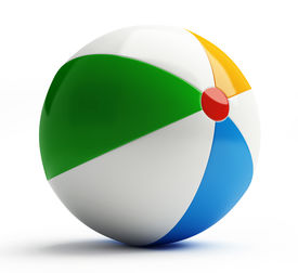 picture of beach-ball  - Beach Ball isolated on a white background - JPG