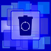 foto of recycle bin  - Recycle bin icon - JPG