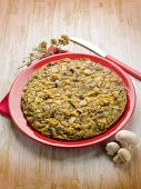 pic of oregano  - omelet with champignon and oregano - JPG