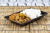 picture of pork  - Japanese pork curry with rice carrotonion and potato  - JPG