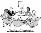image of change management  - Cartoon of african american businesswoman saying - JPG